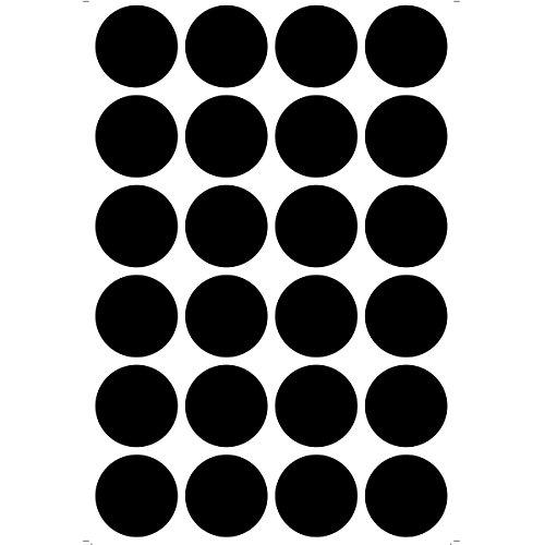 Wallies Peel and Stick Black Chalkboard Dots, Set of 24