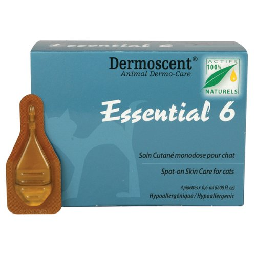 Dermoscent Essential 6 Spot-On Skin Care for Cats, 4 Tubes, My Pet Supplies