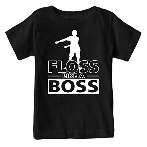 Kids Floss Like a Boss Flossin Dance Youth T Shirt (Black, Adult S)