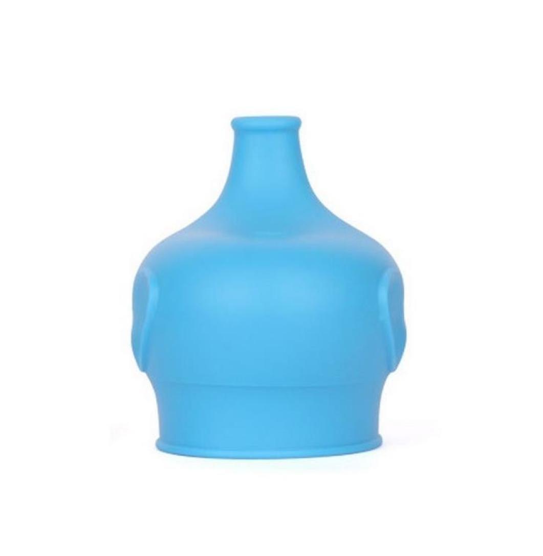 HCFKJ Sicherheit Fü R Kinder Silikon Sippy Deckel Machen Sie Die Meisten Tassen Eine Sippy Cup Leak Proof (BLAU)