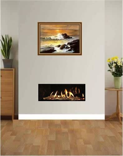 Glass Fronted High Efficiency Frameless Edge Style Gas Fire