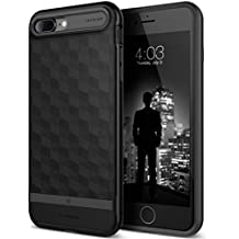 Caseology Parallax Series iPhone 7 Plus / 8 Plus Cover Case with Design Slim Protective for Apple iPhone 7 Plus (2016) / iPhone 8 Plus (2017) - Matte Black