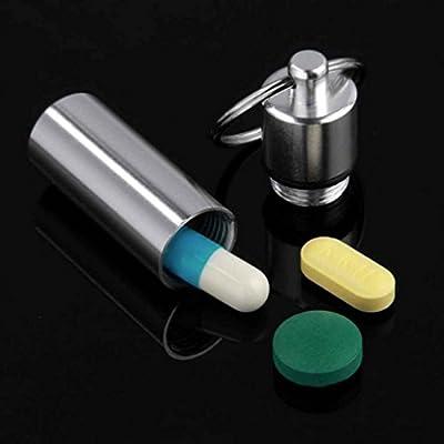 Regard Natral Llavero Caja de la Medicina Píldora Botella de Aluminio del Caso del almacenaje de contenedores Medicina