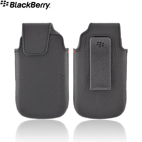 Blackberry Torch 9850/9860 - OEM Black Leather Holster with Swivel Belt Clip (ACC-38960-301)