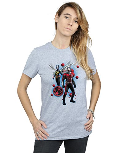 Ant Particle Petit Gris Femme Marvel T Wasp shirt And The Fit man Sport Pose Ami 5Y8qx86
