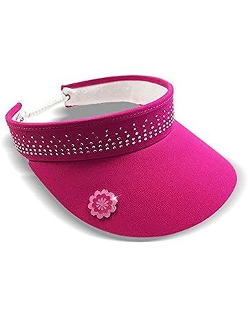 Surprizeshop Ladies Crystal Embellished Golf Visor - Pink. a2f0f1e8bd8a