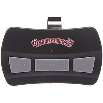 Garage Door Opener Visor Remote by Overhead Door - CodeDoger - Three Button - OCDTR-3,black and red,1 Pack