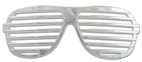 Men's Slotted Glasses Costume Accessory in Silver