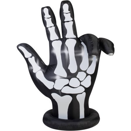 Gemmy Airblown Inflatable 7' X 6' Animated Skeleton Hand Halloween Decoration