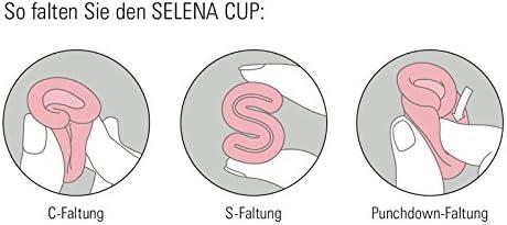 selenacup Menstrual Taza de silicona Grado Médico Incluye Depósito de limpieza y bolsa