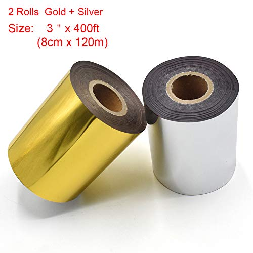 Hot Foil Stamping Paper 1 Roll Gold + 1 Roll Silver 3