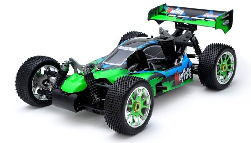 Exceed RC 1/8th Scale MadFire .21 Nitro Fuel 4WD Remote Control RC Buggy 100% RTR for Beginners 2.4Ghz Radio Control [Gama Green] STARTER KIT REQUIRED