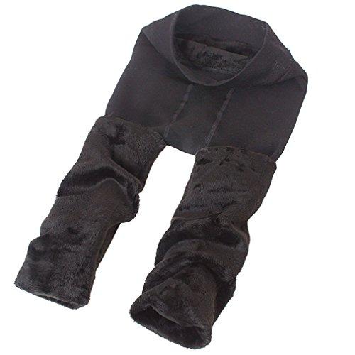 Thermal Womens Pants - Romastory Winter Warm Women Velvet Elastic Leggings Pants (Dark Gray)