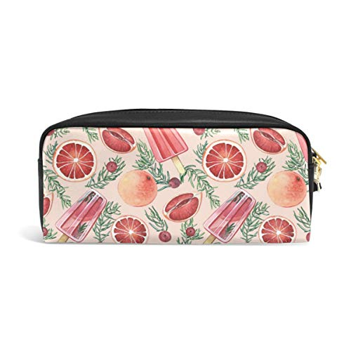 Pencil Case Big Capacity Pencil Bag Makeup Pen Pouch Summer Rosemary Ice Cream and Cranberry Durable Students Stationery Pen Holder for School/Office