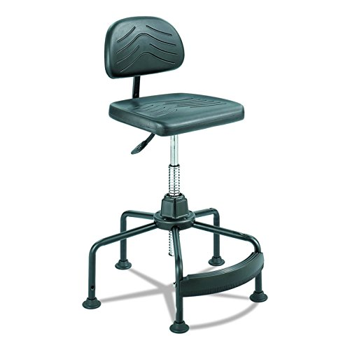 Safco Products 5117 Task Master Economy Industrial Chair (Additional options sold separately), Black Industrial Drafting Stool