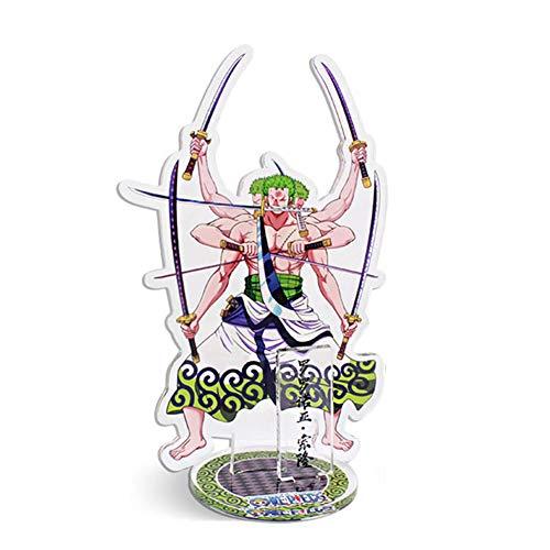 Cotrdocigh Anime One Piece Expositor Soporte de escritorio Acrilico Transparente Figura de accion decorativa Personaje de dibujos animados y Nombre Imagen Soporte Coleccion Decoracion 16CM(H02)