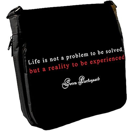 Life is not - Soren Kierkegaard Unisex Umhängetasche