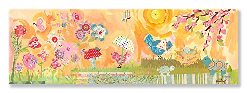 Oopsy Daisy Spring Birdies Stretched Canvas Wall Art by Winborg Sisters, 36 by 12-Inch