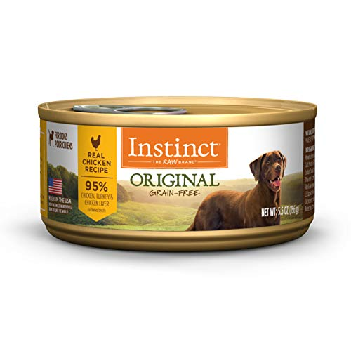 Instinct Original Grain Free Real Chicken Recipe Natural Wet Canned Dog Food by Nature's Variety, 5.5 oz. Cans (Case of 12)