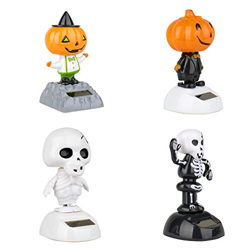 Set of 3 Jackpot, Solar Toy Dancing Skeleton Pumpkin for Halloween Party Games Nightmare Bobble Head Ghost Home Decor Gift - USA Seller !!