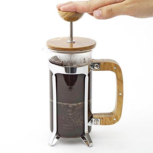 Hario CPSW-2-OV Olivewood Cafépress Coffee and Tea Press, 300ml by Hario (Image #2)