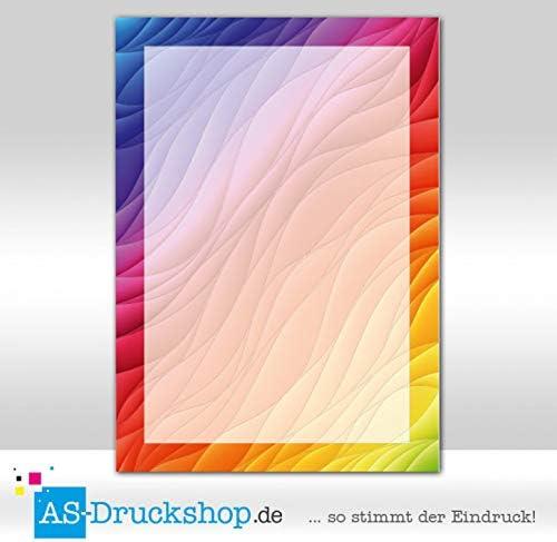 Paper-Media Lot de 100 feuilles de papier design Motif arc-en-ciel Format A5 90 g
