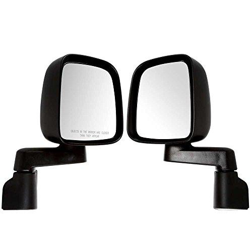 Prime Choice Auto Parts KAPCH1321234PR Pair of 2 Manual Side Door Mirrors