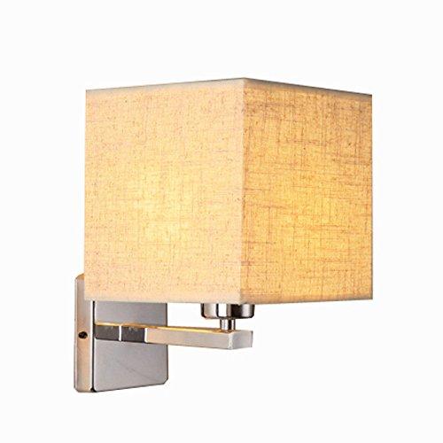Wandleuchte Nachttischlampe Modernes minimalistisches Stoff-Schlafzimmer beleuchtet Hotelflurgang-Lampe, gelb