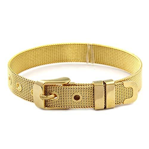 CUTEDAY-BRACELET Jewelry Women Statement Stainless Steel Mesh Bracelets for Slide Charms DIY Bracelets Silver Rose Gold Black Gold