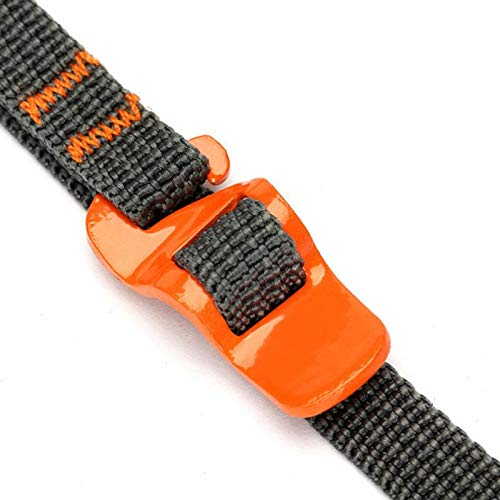 Orange Shoppy Star 2.5M Hook Loop Fastener Quick-release Luggage Strapping Tape with Buckle Outdoor Travel Use