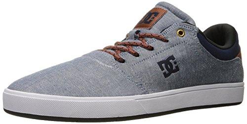 DC Mens Crisis Tx Skateboarding Shoe, Indigo Dark Worn, 39 D(M) EU/6 D(M) UK