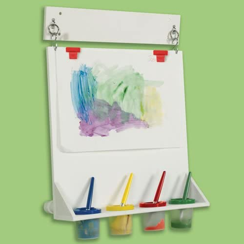 Wall Mounted Paint Easel Space Saver