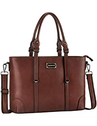 Laptop Bag, Work Tote Bag Fits Up to 15.6 Inch Laptop Tablet Notebook for Women Business Travel