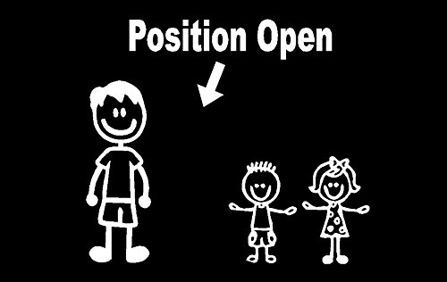 (Position Open Stick Figure Family Decal, Family Sticker, Two Kids Two Dogs, Family Sticker One Girl One Pet, One Boy Three Pets, H 5 By L 9 Inches (Two Young Children, White))
