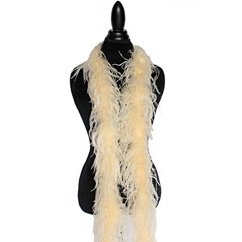 - 2ply Ostrich Feather Boas, Over 20 Colors to Pick Up … (Champagne)