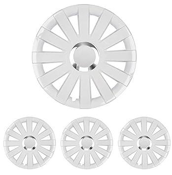 Tapacubos – Tapacubos Tapacubos Onyx Blanco 15 pulgadas 15 R15 universal apto para casi todos