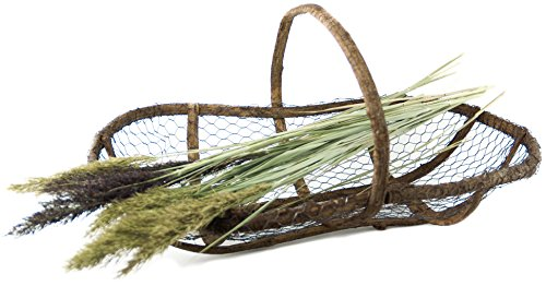 Twig & Wire Large Gardening and Picking Basket with Handle (Cheap Fruit Baskets)