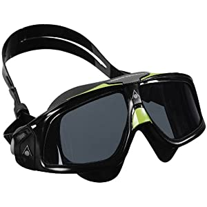 Aqua Sphere Seal 2.0 Goggles with Smoke Lens, Black/Green Frame with Black Silicone