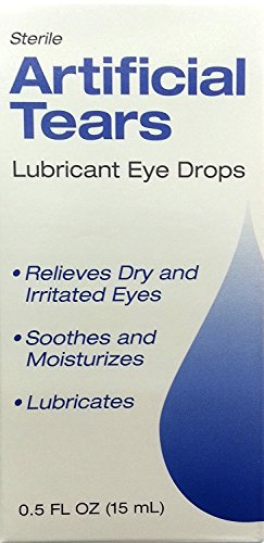 Sterile Artificial Tears Lubricant Eye Drops 0.5oz
