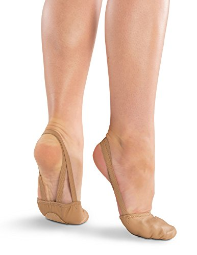 [Danshuz Freedom Leather Half Soles (1 pair) - Light Tan XS] (Lyrical Costumes Solo)