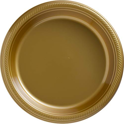 Big Party Pack Gold Plastic Plates | 10.25"