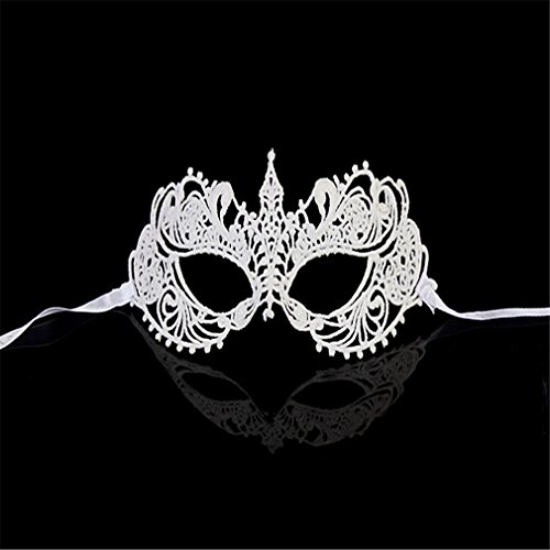 C&L Sexy Charm Lace Mask Women's Party Masquerade Eye Mask Party Ball Masquerade Fancy Dress (S-015-B)