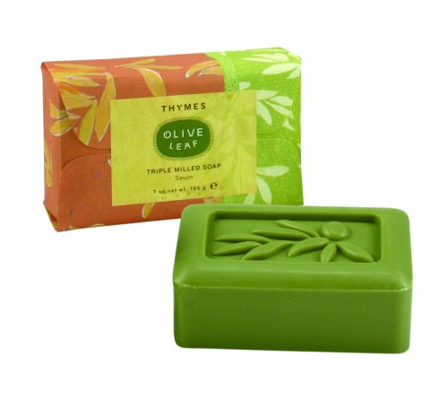 Soap Bar Olive (Thymes Bar Soap, Olive Leaf, 7-Ounce)