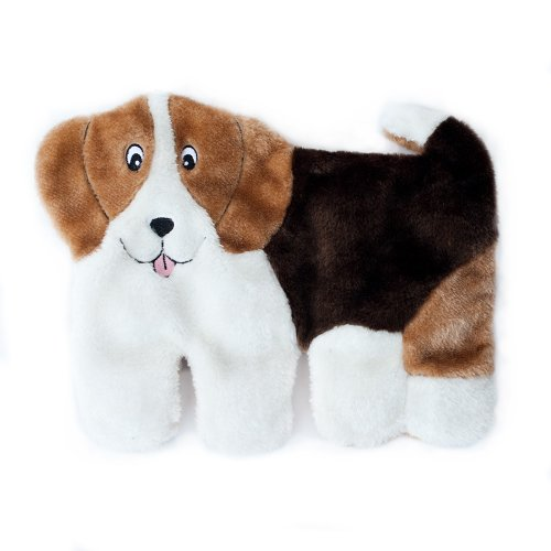 ZippyPaws Squeakie Pup 11-Squeaker No Stuffing Plush Dog Toy, Labrador