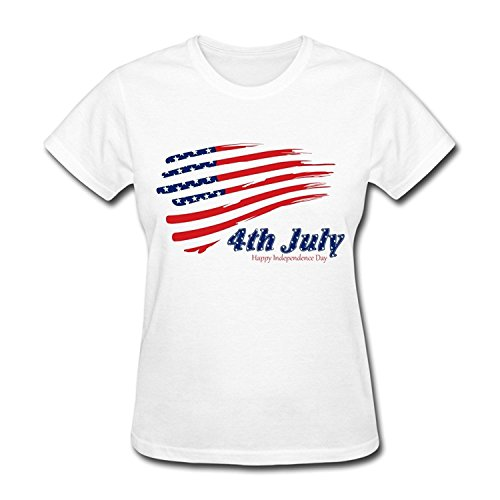 PASSIONC Women's Indendence Of America 4th July Desktop T-shirt XL