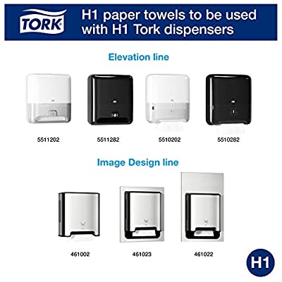 Tork Matic Advanced Paper Towel Roll H1, Paper Hand Towel 290089, 100% Recycled Fiber, High Absorbing, High Capacity 1-Ply, White - 6 Rolls x 700 ft: Industrial & Scientific