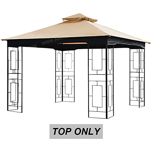 ABCCANOPY Gazebo Top Replacement Canopy Cover for 10x10ft Brinton Gazebo Model L-GZ724PST-B ()