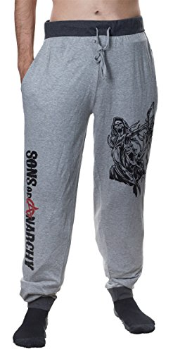 Sons of Anarchy Pajama Lounge Pant (Oxford Grey, Medium)