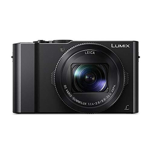 Panasonic LUMIX LX10 20.1MP 4K Digital Camera (Black) with Wasabi Battery/Charger Pack, and Camera Case Bundle (3 Items)