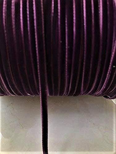 1/8' Double Face Satin Ribbon - 1/8'' Velvet Ribbon Single Face Selling Per 10 Yards Available Color Black, White, Navy< Burgundy, Mauve, Bright Red, and Egg Plan (Egg Plan)